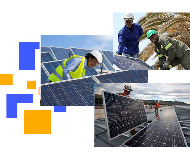 Nextlight ENERGY solar companies in minneapolis solar panel being installed by black peoples